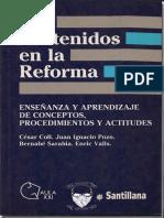 Los Contenidos de La Reforma Enseñanza y Aprendizaje de Conceptos, Procedimientos y Actitudes