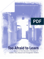 Too Afraid To Learn