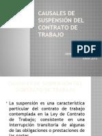 Causales de suspensión del contrato de trabajo.clase 9 2015 (1)