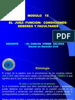 MODULO 15 - EL EL  JUEZ- FUNCION-  CONDICIONES- DEBERES- TGP