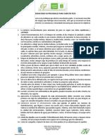 RECOMENDACIONES GENERALES PARA GANACIA  DE PESO