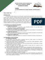 Academia de Formación Cristiana, Nivel III. Tema 12