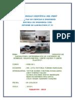 INFORME DE LABORATORIO DE SUELOS - GRANOLUMETRIA , LL Y LP..docx