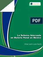 La Defensa Adecuada en Materia Penal en México