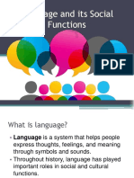 Language and its Social Functions