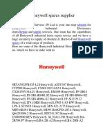 Honeywell Spares Supllier