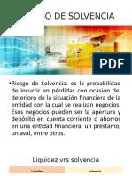RIESGO DE SOLVENCIA