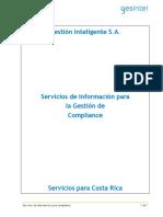 Nueva Descripción de los servicios de Gesintel en Costa Rica