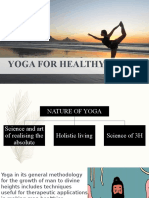 Yoga for Healthy Living