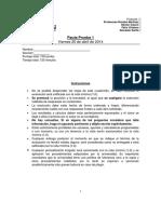xNuevo Pauta Prueba 1 Finanzas I 1.2014 (Santiago)
