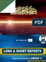 Short & Long Report New