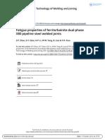 Fatigue properties of ferritebainite dual-phase X80 pipeline steel welded joints