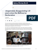 'Desperately Disappointing'_ 10 Years Since the Melbourne Declaration