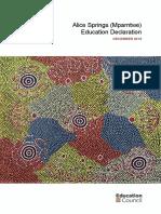 20191211 Alice Springs (Mparntwe) Education Declaration - ACCESSIBLE