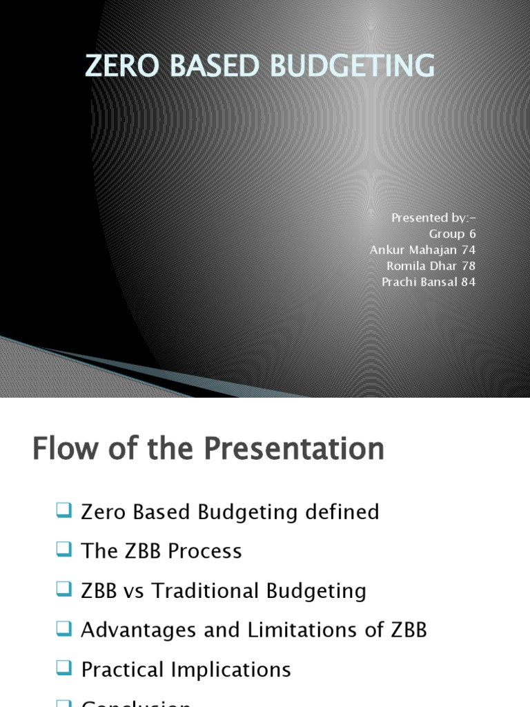 6 zero based budget