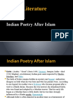 Indian poetry after Islam (1)