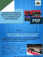 Diapositivas acuerdos estrategicos suscritos en el marco de la XVI comisión mixta China - Venezuela