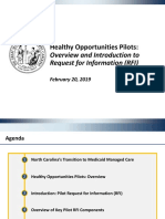 HEALTHY OPPORTUNITIES PILOTS (RFI)