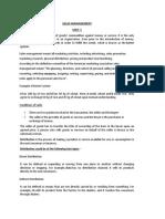 Sales & Distribution Mgmt Unit-1