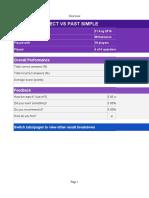 Kahoot Report - PRESENT PERFECT VS PAST SIMPLE