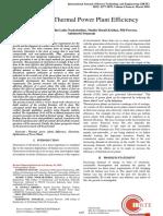 BANDI DAYASAGAR RESEARCH PAPER (SCOPUS Journal), Improving Thermal Power Plant Efficiency