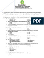 3rd Quarterly Exam on Empowerment Technologies