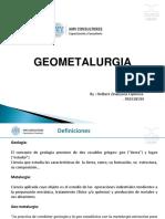 Geometalurgia 2018 PARTE 1