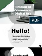 utilization of ecommerce of digital era