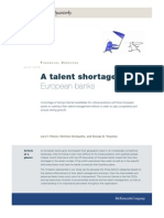 Mckinsey Quarterly - Talent Shortage on European Banks