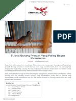 Mengenal Jenis Burung Nuri Maluku Gambar Makanan Dan Harga