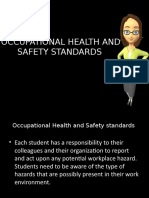 OCCUPATIONAL HEALTH AND SAFETY STANDARDS