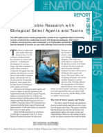Responsible Research with Biological Select Agents and Toxins, Report in Brief