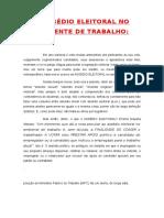 O ASSÉDIO ELEITORAL NO AMBIENTE DE TRABALHO