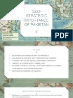 Geostrategic Pakistan