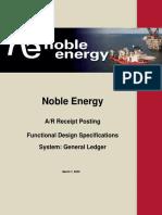 Noble Energy -  AR Receipt Posting Functional Design Template 2.0