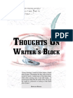 Thoughts on Writer's Block