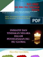 Topik 4.4 _ Inisiatif dan tindakan negara dalam penyelesaian isu-isu global