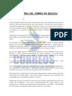 historia del correo en bolivia - Empresa de Correos de Bolivia