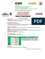 Convocatoria Liga 2010 - 2011 Evento 1 SK