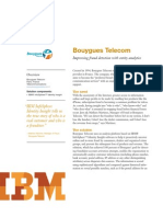 Bouygues Telecom and IBM InfoSphere Identity Insight - Fraud Detection