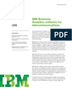 IBM Business Analytics Software for Telecommunications