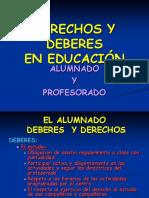 DERECHOS Y DEBERES EN EDUCACIÓN