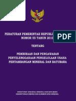 PP 55 2010_PEMBINAAN & PENGAWASAN PERTAMBANGAN