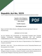 RA No. 9225 of 2003