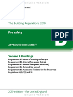 Approved Document B fire safety dwellings volume 1