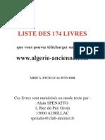 Liste Des Livres Sur La Guerre d'Algerie