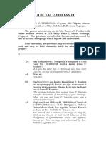 Judicial Affidavit -  Temporal - sister