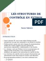 Python 2 LES STRUCTURES DE CONTRÔLE EN PYTHON
