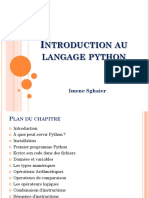 Python 1 INTRODUCTION AU