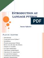 Python 1 INTRODUCTION AU
